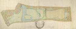 A plan of the gardens at Kew, 1763